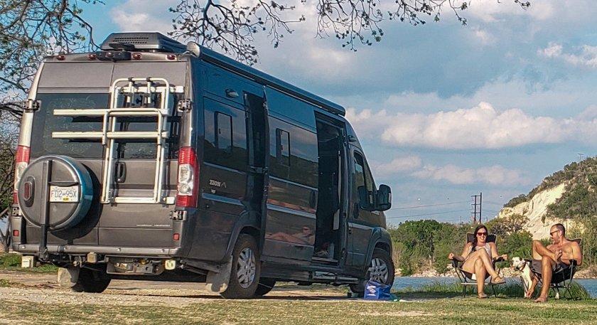 Van Life, Texas, Roadtrip, Fulltime Travel, Living in A Van, Free Camping, Boondocking